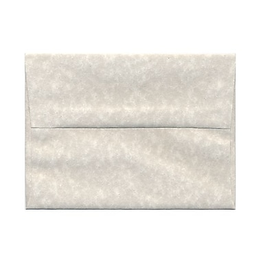JAM Paper® A6 Invitation Envelopes, 4.75 x 6.5, Parchment Pewter Grey Recycled, 100/Pack (35170g)