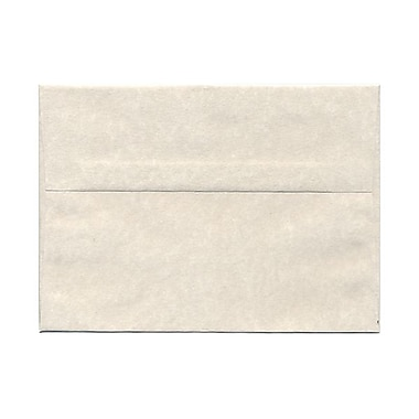 JAM Paper® A7 Invitation Envelopes, 5.25 x 7.25, Parchment Pewter Grey Recycled, 100/Pack (35061g)