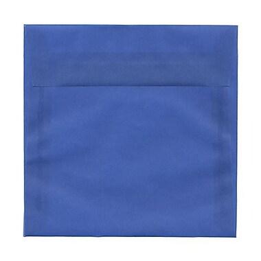 JAM PaperMD – Enveloppes carrées à fermeture gommée, 6 1/2 x 6 1/2 po, bleu translucide, 100/paq.