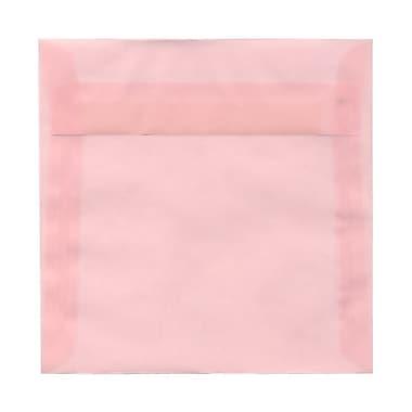 JAM PaperMD – Enveloppes carrées Stardream fini métallique avec fermetures gommées, 6 x 6 po, couleur rouge Jupiter