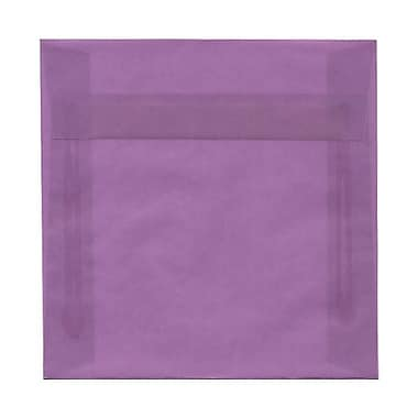 JAM Paper® 6.5 x 6.5 Square Envelopes, Purple Translucent Vellum, 100/Pack (2812713B)