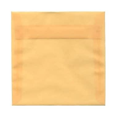 JAM Paper® 6.5 x 6.5 Square Envelopes, Sand Ivory Translucent Vellum, 25/Pack (2812715)