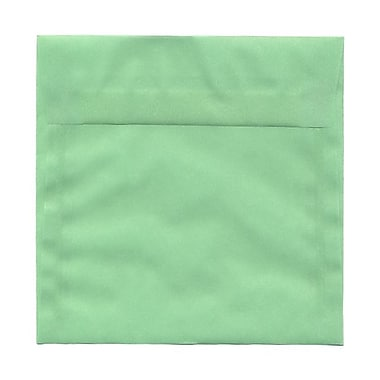 JAM Paper® 6.5 x 6.5 Square Envelopes, Mint Green Translucent Vellum, 100/pack (2812719B)