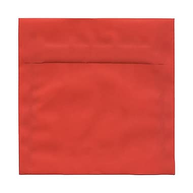 JAM Paper® 6.5 x 6.5 Square Envelopes, Nectarine Orange Translucent Vellum, 25/Pack (2812720)