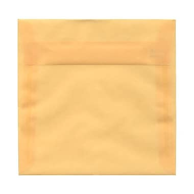 JAM Paper® 6.5 x 6.5 Square Envelopes, Peach Translucent Vellum, 100/Pack (2812721B)