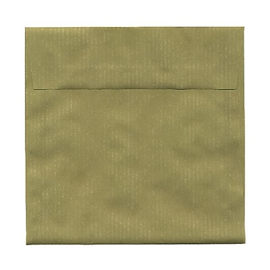 JAM Paper® 6.5 x 6.5 Square Envelopes, Cactus Green Translucent Vellum, 100/Pack (2812725B)