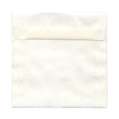 JAM Paper® 6.5 x 6.5 Square Envelopes, White Basket Translucent Vellum, 100/Pack (2812730B)