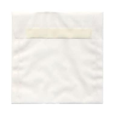 JAM Paper® 6.5 x 6.5 Square Envelopes, White Translucent Vellum, 25/Pack (2812731)