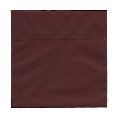 JAM Paper® 6.5 x 6.5 Square Envelopes, Burgundy Translucent Vellum, 25/Pack (2813778)