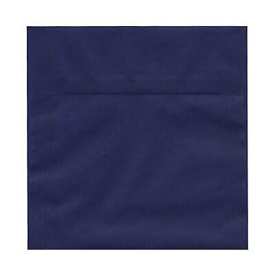 JAM Paper® 6.5 x 6.5 Square Envelopes, Indigo Blue Translucent Vellum, 100/pack (2812704B)