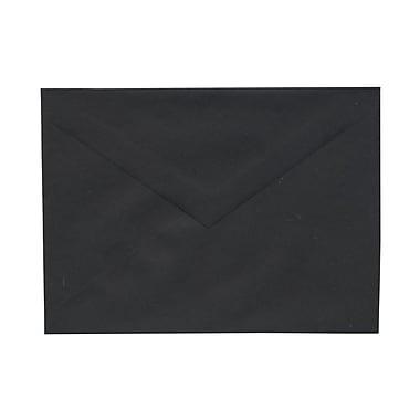 JAM Paper® A7 Invitation Envelopes, 5.25 x 7.25, Black with V-Flap, 25/pack (21154202)