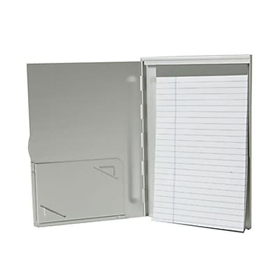 JAM Paper® Aluminum Pad Holder, Medium, 5.75 x 8.25, Silver, Sold Individually (7335SILVER)