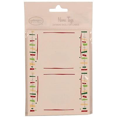 JAM Paper® Name Tag Gift Label Stickers, 2.25 x 3.5, Fiesta, 24/pack (249824361)
