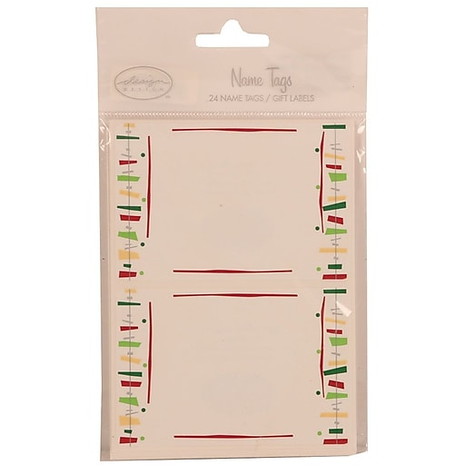 jam paper name tag gift label stickers 2 25 x 3 5 fiesta 24 pack