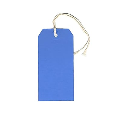 JAM Paper® Gift Tags with String, Medium, 2.38 x 4.75, Blue, 100/Pack (39197115B)