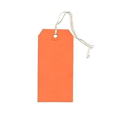 JAM Paper® Gift Tags with String, Medium, 2 3/8 x 4 3/4, Orange, 100/pack (39197117B)