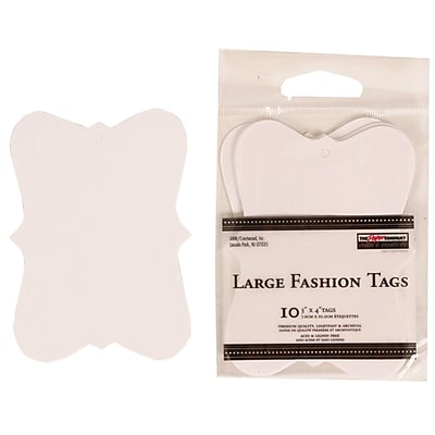 JAM Paper® Creative Gift Tags, Large, 3 x 4, White Fashion, 10/pack (305124655)