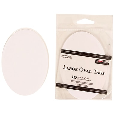 JAM Paper® Creative Gift Tags, Large, 2.75 x 4, White Oval, 40/Pack (305124658g)