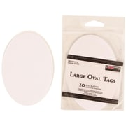 JAM Paper® Creative Gift Tags, Large, 2 3/4 x 4, White Oval, 10/pack (305124658)