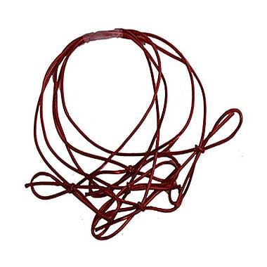 JAM PaperMD – Attaches à ficelle élastique métallisées, anneau de 22 po, rouge, 50 par paquet (6564980B50)