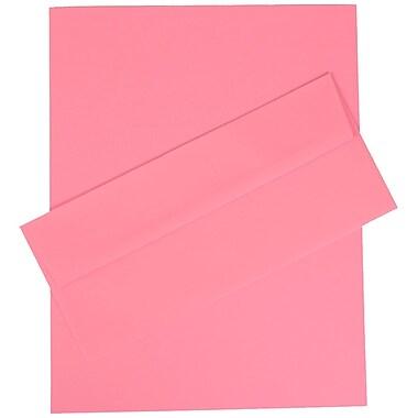 JAM PaperMD – Ens. papeterie d'affaires de couleur vive Ultra, rose – 100 feuilles et 100 envel. nº 10 (4 1/8 x 9 1/2)