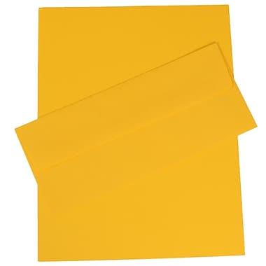 JAM PaperMD – Ensemble de papeterie d'affaires, papier recyclé, couleur vive, jaune– 100 feuilles et 100 enveloppes nº 10