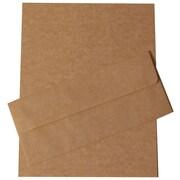 JAM Paper® – Ensemble papeterie d'affaires parchemin recyclé brun – 100 feuilles et 100 enveloppes nº 10  (303024427)