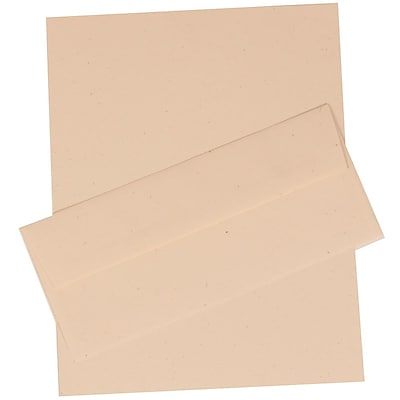 JAM Paper® Business Stationery Set, 100 Sheets of Paper and 100 #10 Envelopes, Milkweed Ivory Recycled, set of 100 (303024433)