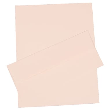 JAM Paper® Business Stationery Set, 100 Sheets of Paper and 100 #10 Envelopes, Strathmore Bright White Laid, 100/set (303024435)