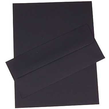 JAM Paper® Business Stationery Set, 50 Sheets of Paper and 50 #10 Envelopes, Navy Blue, set of 100 (303024452)