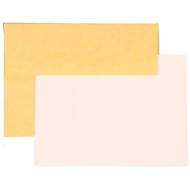 JAM Paper® A6 Parchment Recycled Stationary Sets With 25 Cards & Envelopes