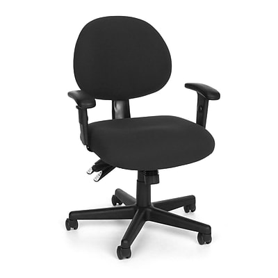 OFM 241-AA-206 24 Hour Fabric Task Chair with Adjustable Arms, Black