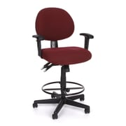 OFM 241-AA-DK-201 24 Hour Fabric Task Chair and Drafting Kit with Adjustable Arms, Burgundy