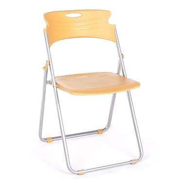 OFM™ Flexure Plastic Folding Chair, Butterscotch