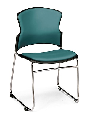 OFM™ Anti -Microbial/Anti-Bacterial Vinyl Multi-Use Stack Chair, Teal