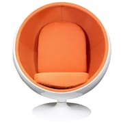 Modway Kaddur Fabric Lounge Chair, White/Orange
