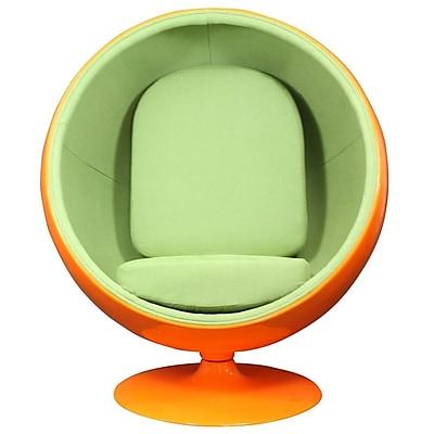 Modway Kaddur Fabric Lounge Chair, Orange/Green