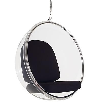 Modway Ring Vinyl Lounge Chair, Black