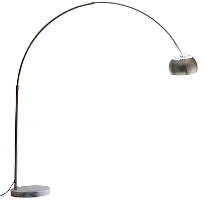 Modway 60W Sunflower Floor Lamp With Round Marble Base, White