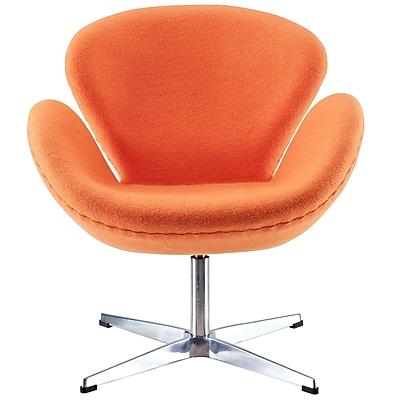 Modway Fabric Wing Lounge Chair, Orange (EEI-137-ORA)