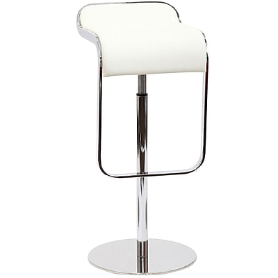 Modway LEM Leather Bar Stool, White