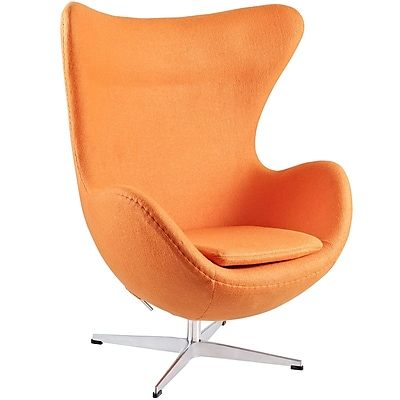 Modway Glove Wool Lounge Chair, Orange