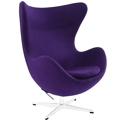 Modway Wool Lounge Chair, Purple (EEI-142-PRP)