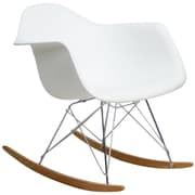 Modway Rocker Lounge Chair, White (EEI-147-WHI)