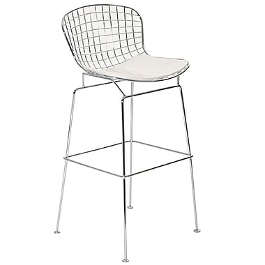 Modway CAD Vinyl Bar Stool, White