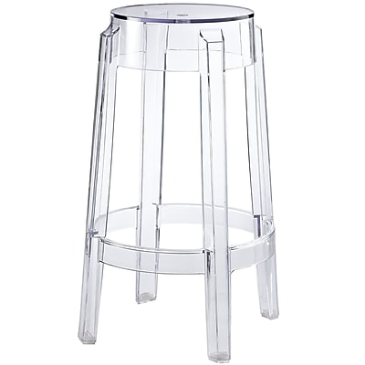 Modway Casper Acrylic Counter Stool Clear Staples