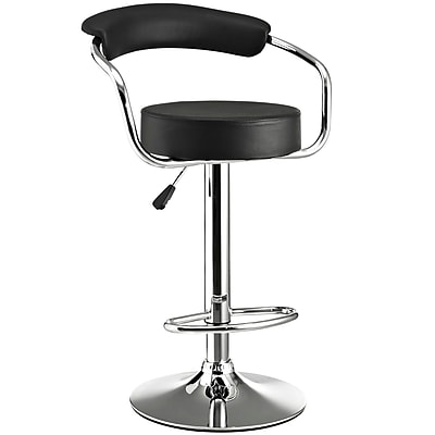 Modway Diner Leather Bar Stool, Black