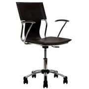 Modway Metal Managers Office Chair, Fixed Arms, Brown (848387010300)