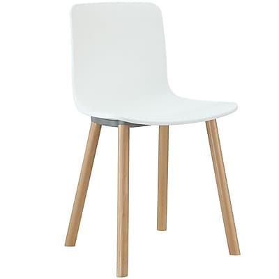 """""Modway Sprung 31""""""""H Plastic Modern Dining Side Chair, White"""""" 512637"