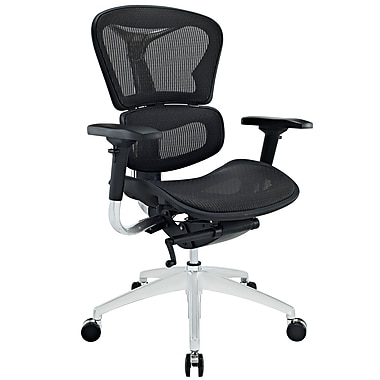 Office Chairs Adjustable Arms modway mid-back mesh executive office chair, adjustable arm, black